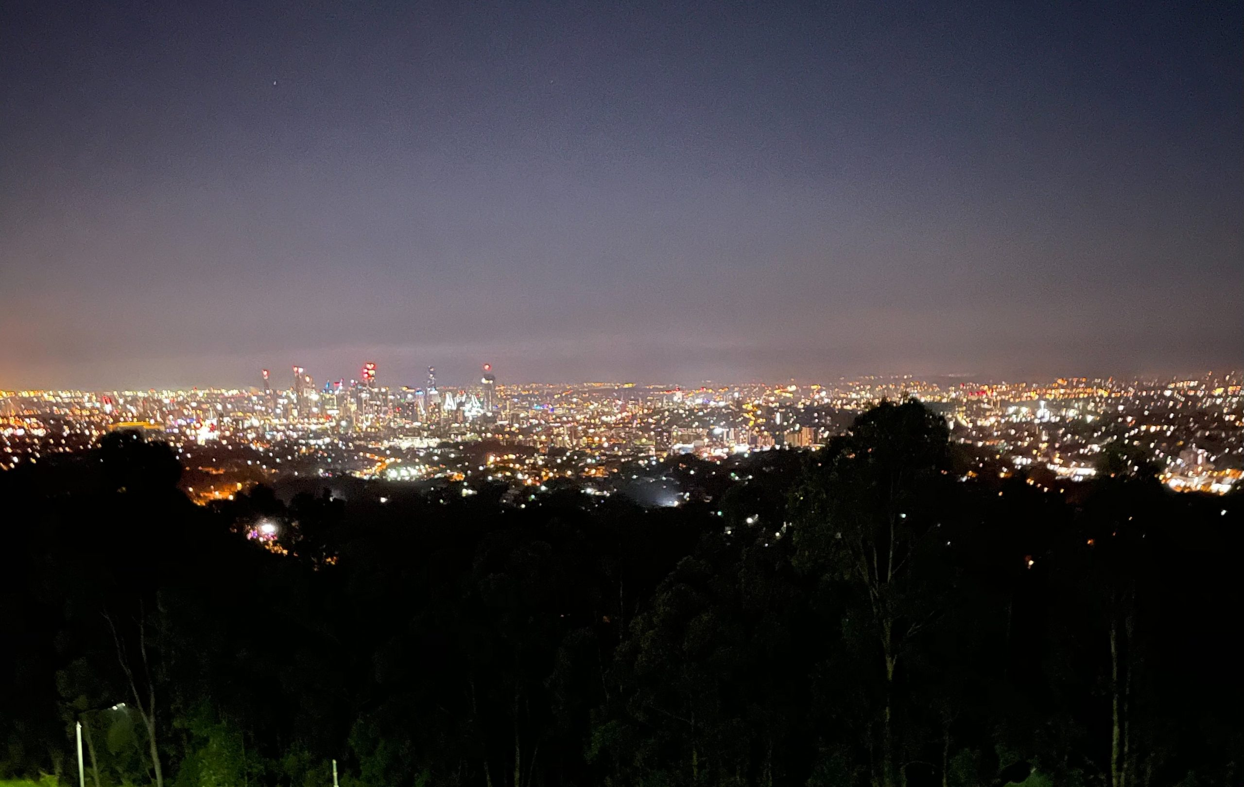 Mt Coot-tha lookout ANZAC day 2021